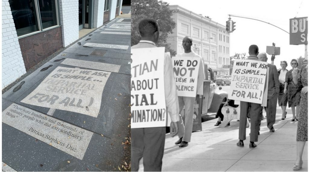 Florida Memory (December 6, 1960). Boycott and picketing of downtown stores - Tallahassee, Florida.