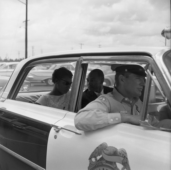 Florida Memory. (June 16, 1961). Priscilla Stephens (later Kruize), from CORE, and Reverend Petty D. McKinney, from Nyack, N.Y., in the back of a Tallahassee police car.